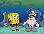 Spongebob meeting sandy