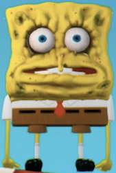 Spongebob dry out in Battle for Bikini Bottom Rehydrated.png