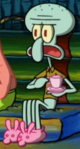 Squidward Wearing Slippers