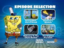 SpongeBob, You're Fired! DVD episode selection screen 1
