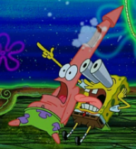 Patrick and SpongeBob Scared