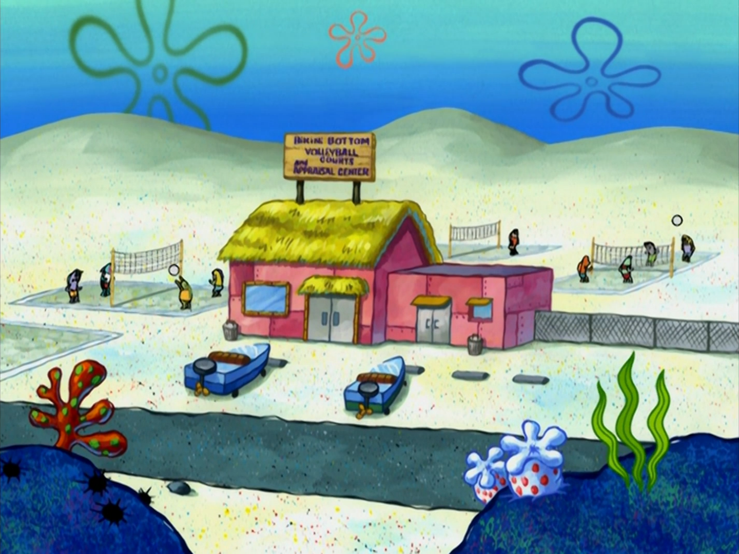 Bikini Bottom Volleyball Courts and Appraisal Center