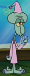 Squidward Wearing PJs