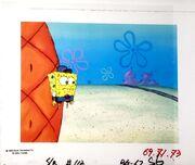 Hall Monitor Spongebob Animation Cel