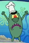 Plankton Wearing a Toque Blanche