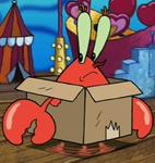 Mr. Krabs Wearing a Box