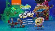 SpongeBob SquarePants The Legend of Boo-Kini Bottom 2018 DVD Menu Walkthrough