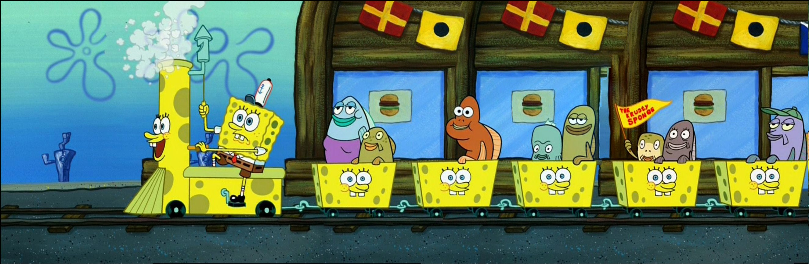 Krusty Sponge Fun Train