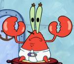 Mr. Krabs Wearing a Diaper