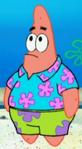 Patrick Wearing a Hawaiian Shirt