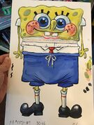 SpongeChad production painting