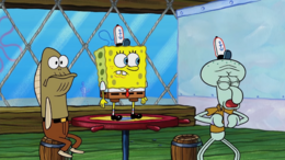 Squidward's eyelids color error in Trident Trouble.png