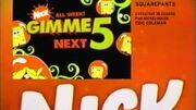 SpongeBob Gimme 5 Promo (March 3-7, 2008)
