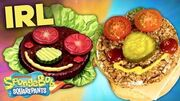 Making a Krabby Patty IRL 🍔 Plus BTS + BLOOPERS! SpongeBobSaturdays