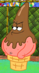 Patrick as an Ice Cream Cone