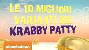 Spongebob Le 10 migliori varianti del Krabby Patty Nickelodeon