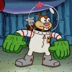 Sandy Wearing Her Karate Gear