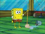SpongeBob with no socks or shoes