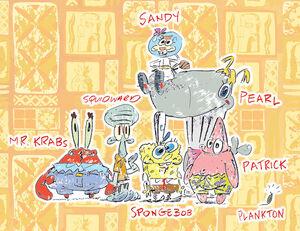 SpongeBob-SquarePants-main-characters-cast-by-Stephen-Hillenburg