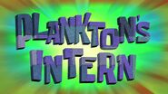 Plankton's Intern