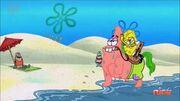 SpongeBob Riding Pat The Horse
