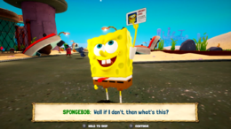 SpongeBob's library card in Battle for Bikini Bottom - Rehydrated video game.png