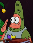 Patrick Wearing a Knight's Outfit