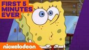 SpongeBob's Official Debut 🦀 The Very FIRST 5 Minutes of Help Wanted!