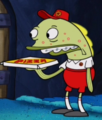 Pizza delivery fish