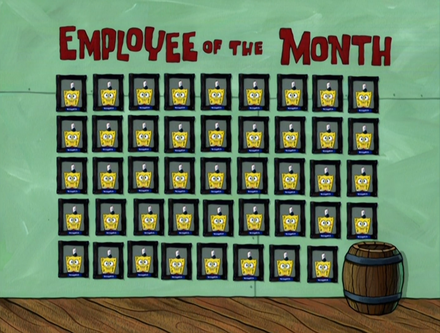 Employee of the Month wall