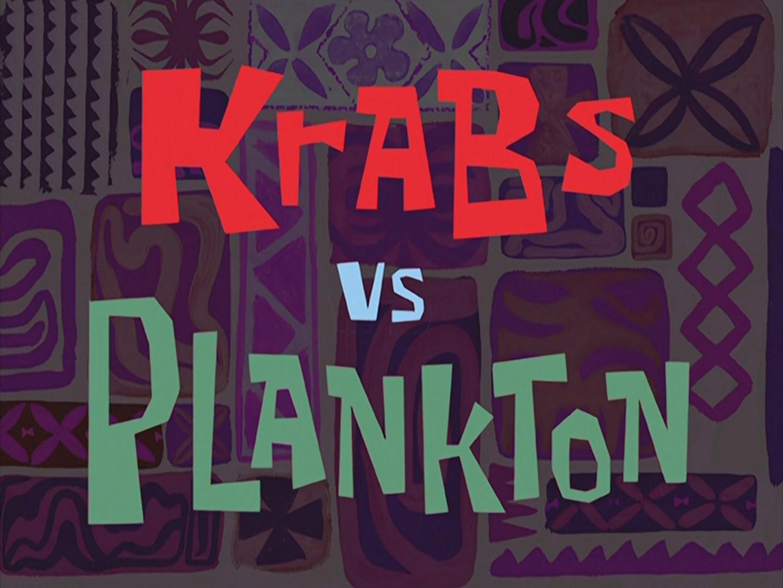 Krabs vs. Plankton/transcript