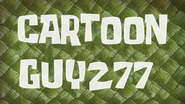 CartoonGuy277 title card by Egor