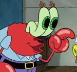 Mr. Krabs green eyes