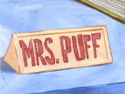 Mrs Puff school nameplate