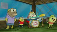 Sponge out of water image
