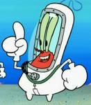 Mr. Krabs Wearing a Hazmat Suit