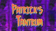 Patrick's Tantrum(1)