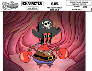 Scruffy Mr. Krabs Captain Outfit