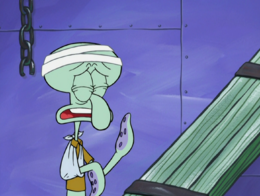 Squidward's eyelids color error in Accidents Will Happen.png