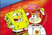 Sandy and spongebob (3)