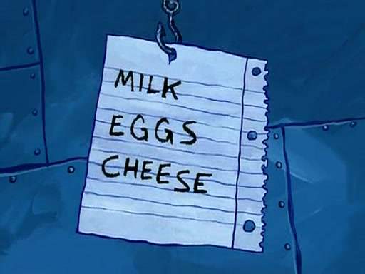 Floating shopping list