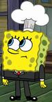 SpongeBob as a chef in Kooky Cooks