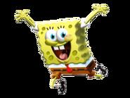 SpongeBob Jumping 3D stock