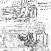 Comics-production-art-Pearl-and-Mr-Krabs