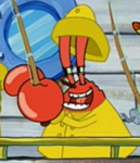 Mr. Krabs as a Clam Fisher