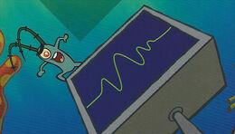 SpongeBob SquarePants Karen the Computer and Plankton on Monopoly Board.jpg