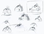 Stephen-Hillenburg-sketches-SpongeBob-Mrs-Puff