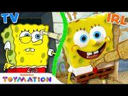 SpongeBob & Patrick Build Sand Castles in the Sand! - Toymation