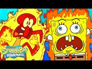 Every Time Someone Catches on Fire 🔥 🤯 - SpongeBob