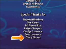 Clancy Brown name credit in SpongeBob's Truth or Square video game.png